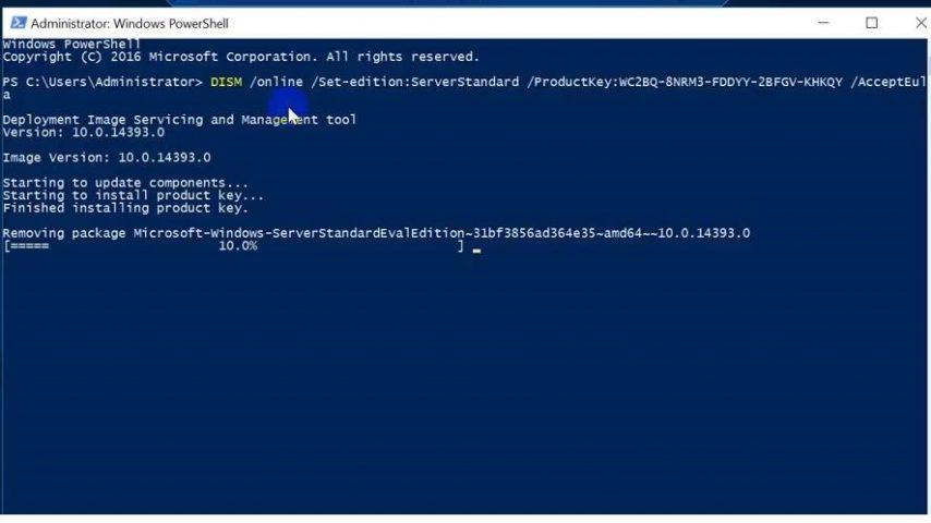 windows 2016 server standard evaluation licencia