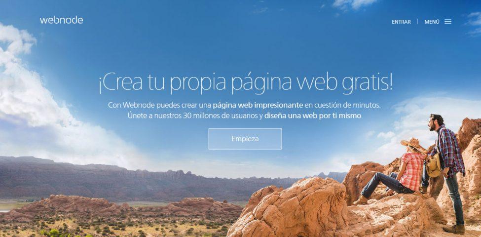 webnode crea página sitio web gratis negocio