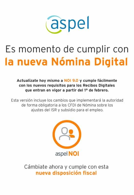 reforma fiscal nomina electronica contrata aspel noi mexico