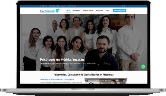 portafolio diseño desarrollo web psicomerida