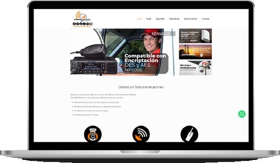 portafolio diseño desarrollo web redcomsureste